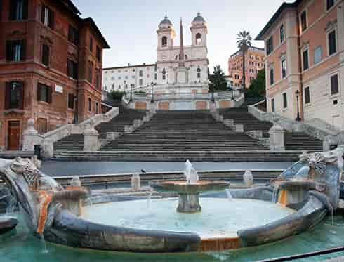 Spanish Steps with Fountain