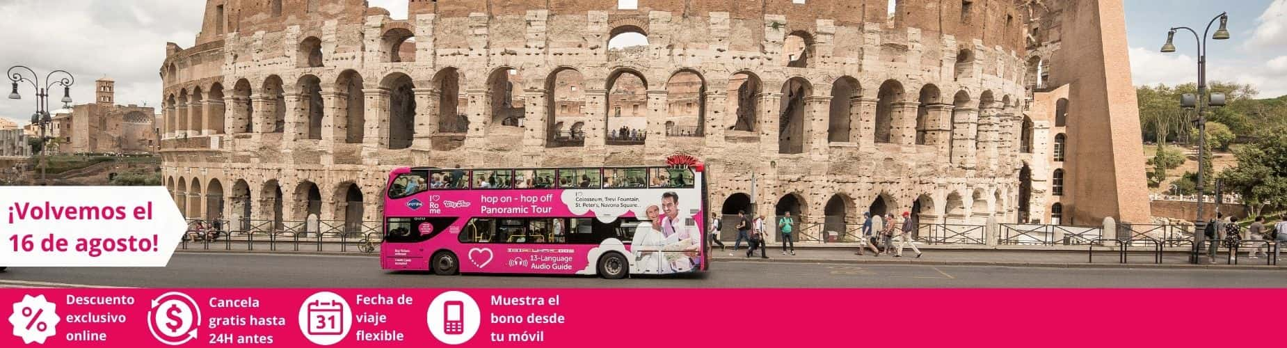 Oferta anticipada bus turistico Hop On Hop Off Roma