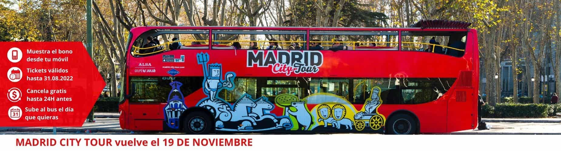Cancelacion gratis Madrid City Tour