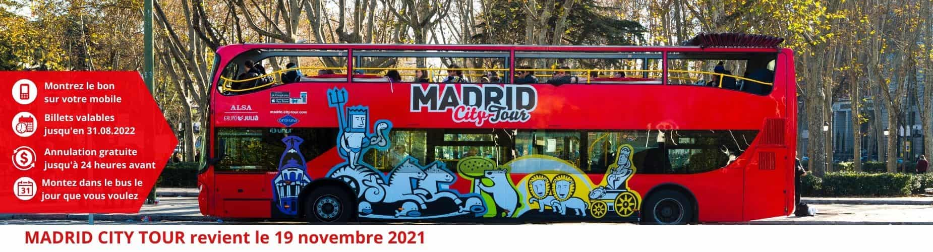 anullation gratuite Madrid City Tour